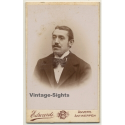 Carte de Visite Antique Photograph Neck Beard Portrait Manchester England CDV Photo Victorian Bald Man