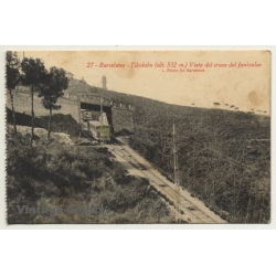 Barcelona: Tibidabo - Vista Del Cruce Del Funicular *27...