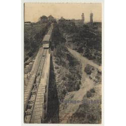 Barcelona: Tibidabo - Superior Del Funicular *32 (Vintage...