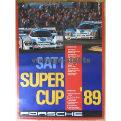 1989 Porsche Supercup 962C Winners Bob Wollek (Vintage Poster)