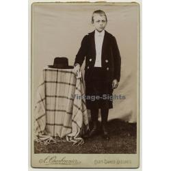 A. Charbonnier / Sart-Dames-Avelines: Serious Young Boy / Suit...