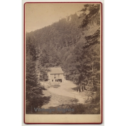 Les Vosges / France: Sawmill In Forest (Vintage Cabinet Card...