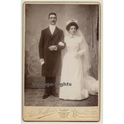 Adr. Huybers / Bruxelles: Portrait Of A Newly Wedded Couple...