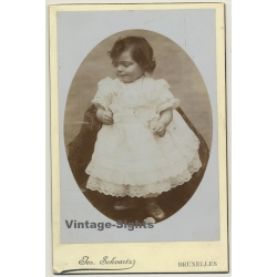 Jos. Schvartz / Bruxelles: Little Baby Girl In White Dress...