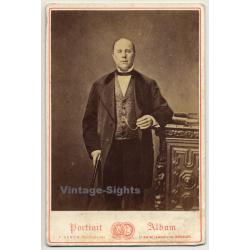 F. Deron / Bruxelles: Portrait Of Aristocratic Man (Vintage...
