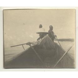 Lake Edward / Congo-Belge: Hunt On Canoe / Lieutenant Hallez...