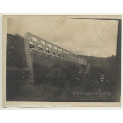 Congo-Belge: Enormous Railway Bridge / Engineer (Vintage RPPC...
