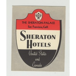 Sheraton Palace - San Francisco / USA (Vintage Luggage Label)