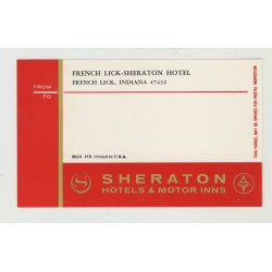 French Lick - Sheraton Hotel - Indiana / USA (Vintage Luggage Label)