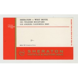 Sheraton - West Hotel - Los Angeles / USA (Vintage Luggage Label)