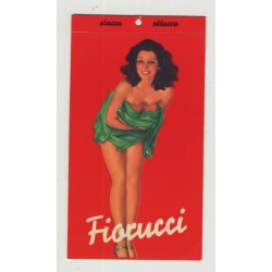 Rare Vintage Fiorucci Jeans Pinup Sticker  - Red (Italy 1980s)