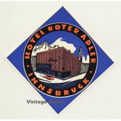Innsbruck / Austria: Hotel Roter Adler (Vintage Luggage Label)