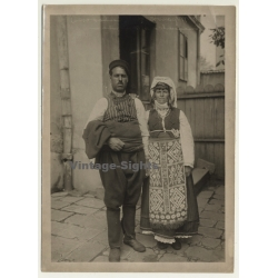 Sliven / Bulgaria: Couple In Traditional Costumes / Garb...