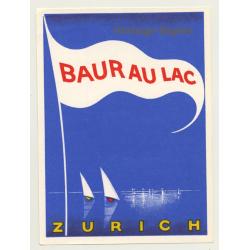 Zürich / Switzerland: Hotel Baur Au Lac (Vintage Luggage Label...