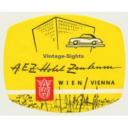 Vienna - Wien / Austria: A.E.Z. Hotel Zentrum (Vintage Luggage...