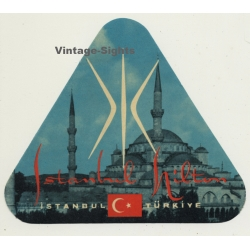 Istanbul / Turkey: Hotel Hilton (Vintage Luggage Label)