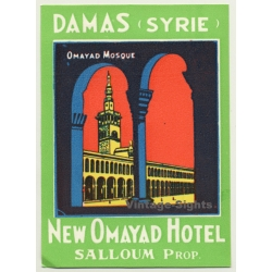 Damascus - Damas / Syria: New Omayad Hotel (Vintage Luggage...