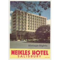Salisbury / United Kingdom: Meikles Hotel (Vintage Luggage Label)