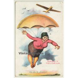 Prosit Neujahr / Als Obs De Schwebst! Woman - Parachute...