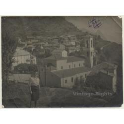 Brè, Lugano / Switzerland: View Over Village (Vintage Photo ~...