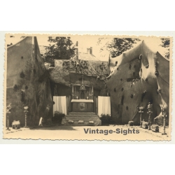 Africa: Opposing Entrance Of Missionary Church (Vintage RPPC...