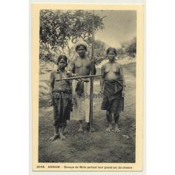 Annam / Vietnam: Group De Moïs / Nude - Ethnic - Ear...