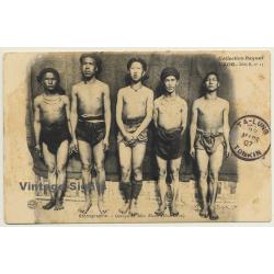 Laos / Indochina: Groupe De Méos Blancs - Hua Pahn (Vintage PC...