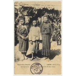 Laos / Indochina: Femmes & Jeune Homme Pou Ok - Hua Pahn...