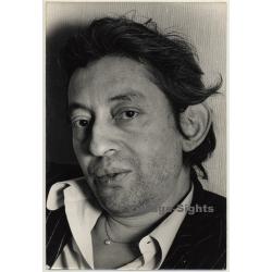 Portrait Of Serge Gainsbourg (Vintage Photo Jean Guyaux 1974)