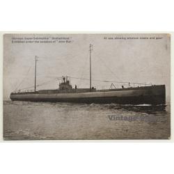 German Super-Submarine Deutschland (Vintage Postcard WW1)
