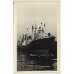 MS Bodenstein / Cargo Ship (Vintage RPPC Voix Du Peuple)