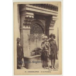 Casablanca / Morocco: A La Fontaine (Vintage Postcard)