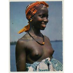 Africa: Sweet Topless Indigenous Girl / Ethno (Vintage RPPC)
