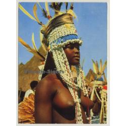Ivory Coast: Topless Sénoufo Dancer - Blonde Braids / Ethno...