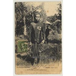 Laos: Le Tiao-Muong De Khong (Bas-Laos) (Vintage PC 1907 Ethno)