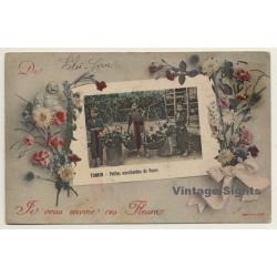 Tonkin / Vietnam: Petites Marchandes De Fleur (Vintage PC...