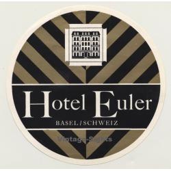 Basel / Switzerland: Hotel Euler (Vintage Luggage Label)