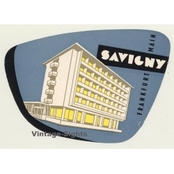 Frankfurt am Main & Germany: Hotel Savigny (Vintage Luggage...