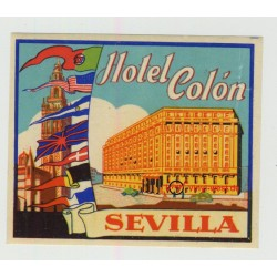 Hotel Colón - Sevilla / Spain (Vintage Luggage Label)