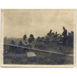 Congo-Belge: Force Publique Soldiers Rest In Steppe (Vintage...
