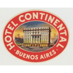 Hotel Continental - Buenos Aires / Argentina  (Vintage Luggage Label)