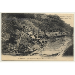 Laos / Indochine: Sur Le Mékong - Pirogues (Vintage PC 1906...