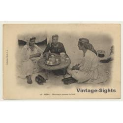 Blida / Algeria: Mauresque Prenant Le Cafe / Ethnic (Vintage...