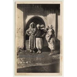 Maghreb: Women At Fountain / Près De La Fontaine (Vintage RPPC)