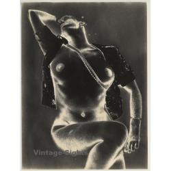 Experimental Erotic Art: Semi Nude & Necklace (Vintage Photo...