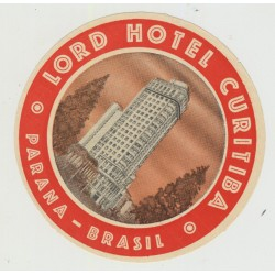 Lord Hotel Curitiba - Parana / Brazil (Vintage Luggage Label)
