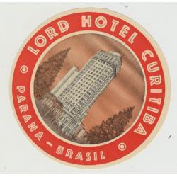 Lord Hotel Curitiba - Parana / Brazil (Vintage Luggage Label)