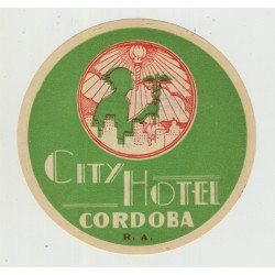 City Hotel - Cordoba / Argentina (Vintage Luggage Label)