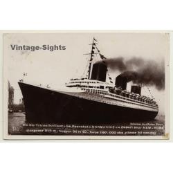 Paquebot Normandie - Départ Pour New York / Steamboat (Vintage...