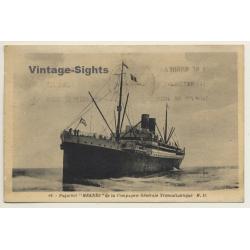 Paquebot Meknès / CGT - Steamboat (Vintage Postcard 1937)